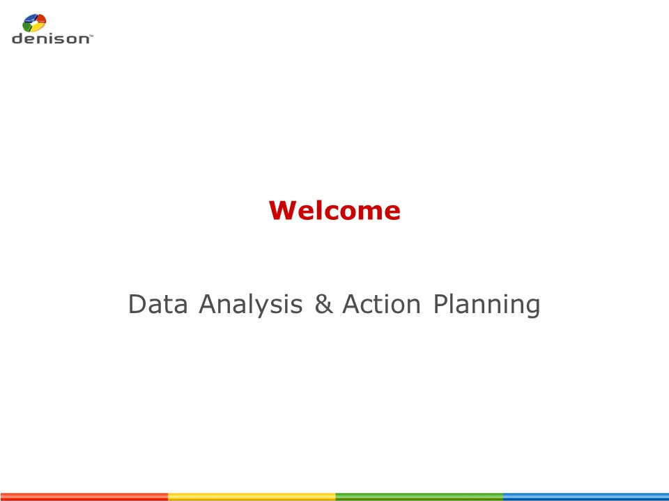 Data Analysis & Action Planning