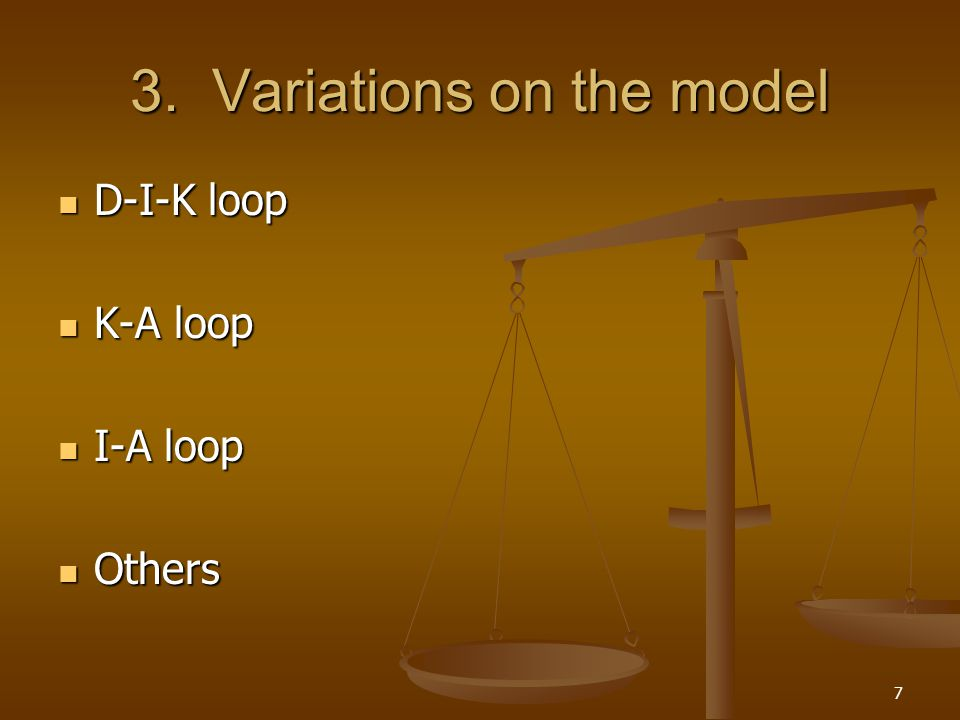 3. Variations on the model