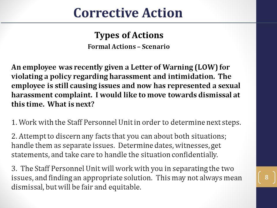 Formal Actions – Scenario