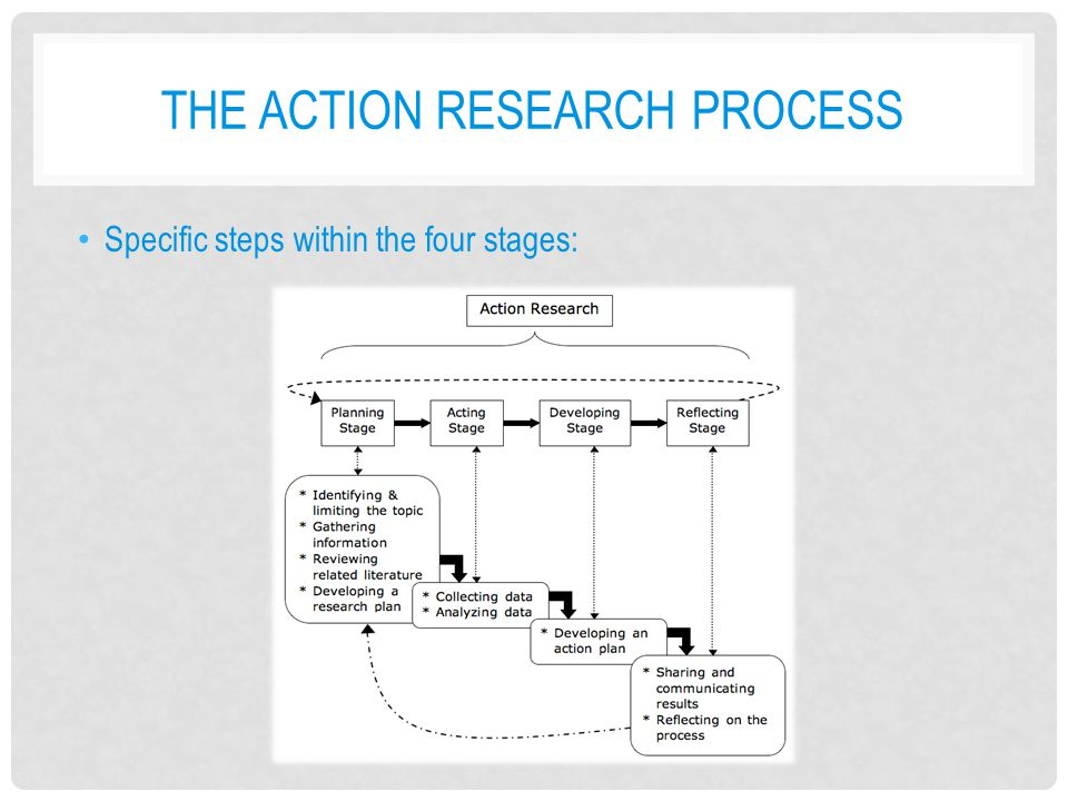 Steps of the research process