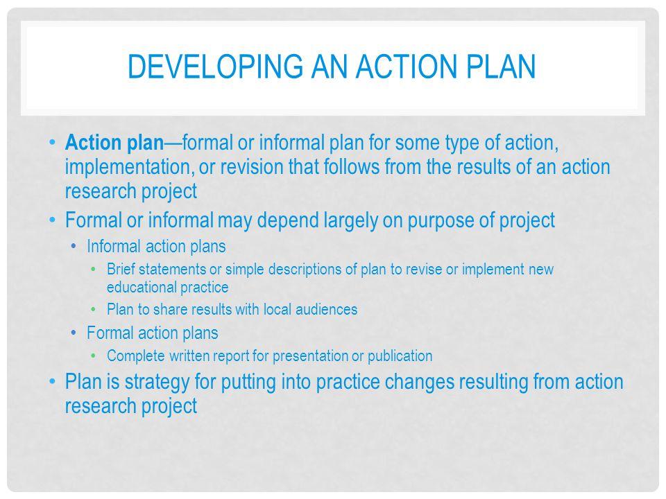 Developing an Action Plan