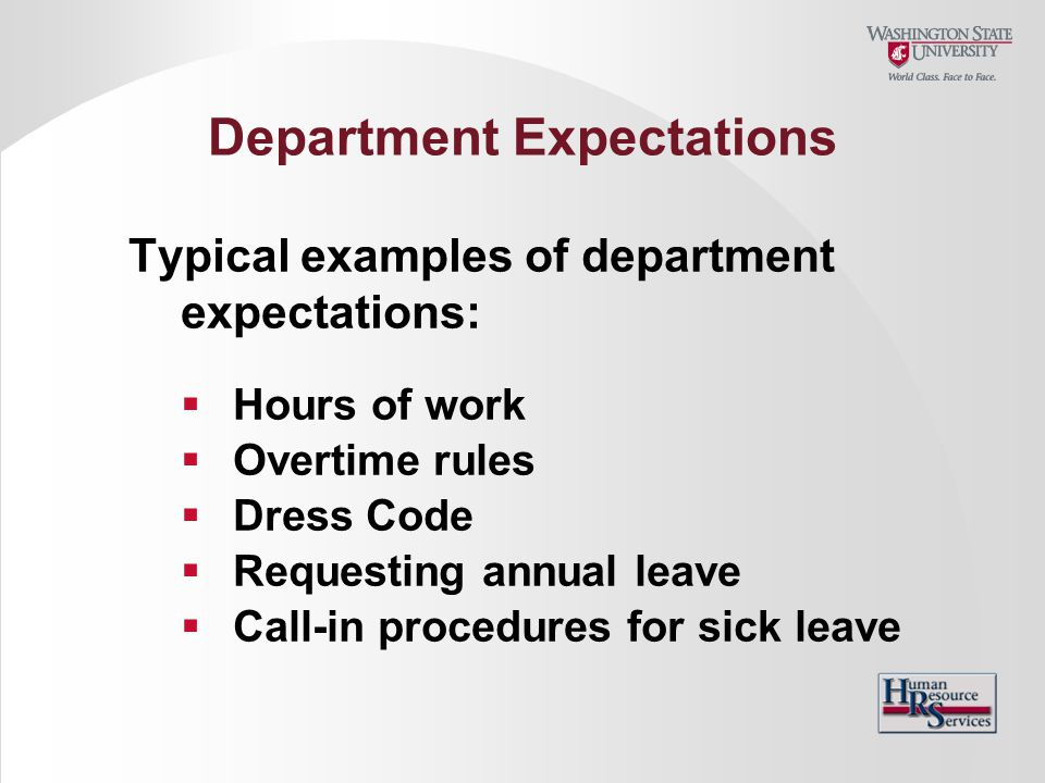 Department Expectations