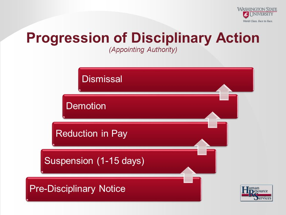 Progression of Disciplinary Action (Appointing Authority)