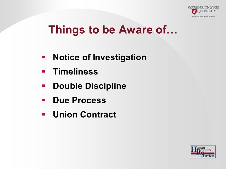 Things to be Aware of… Notice of Investigation Timeliness