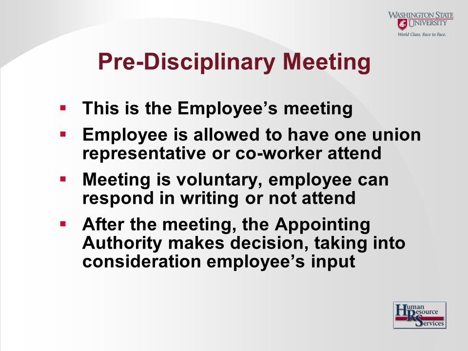 Pre-Disciplinary Meeting