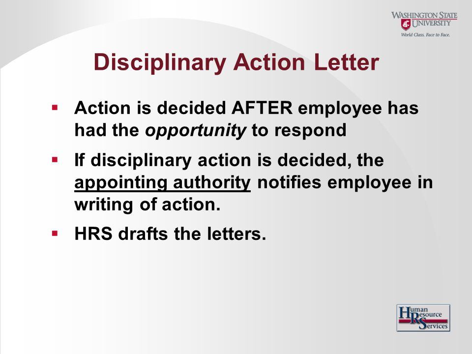 Disciplinary Action Letter