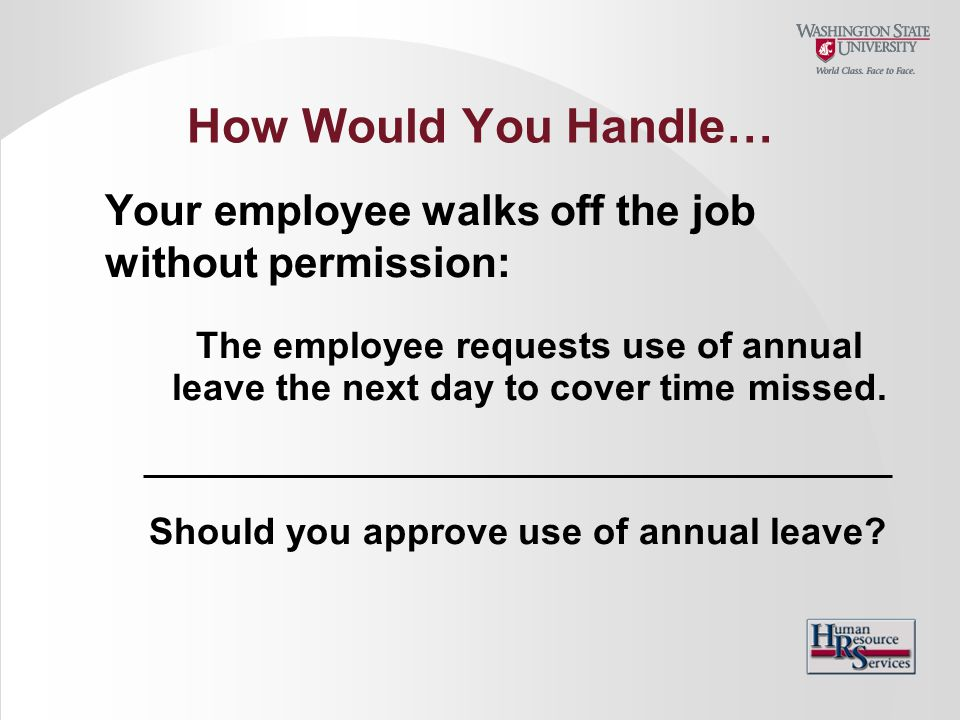 Should you approve use of annual leave