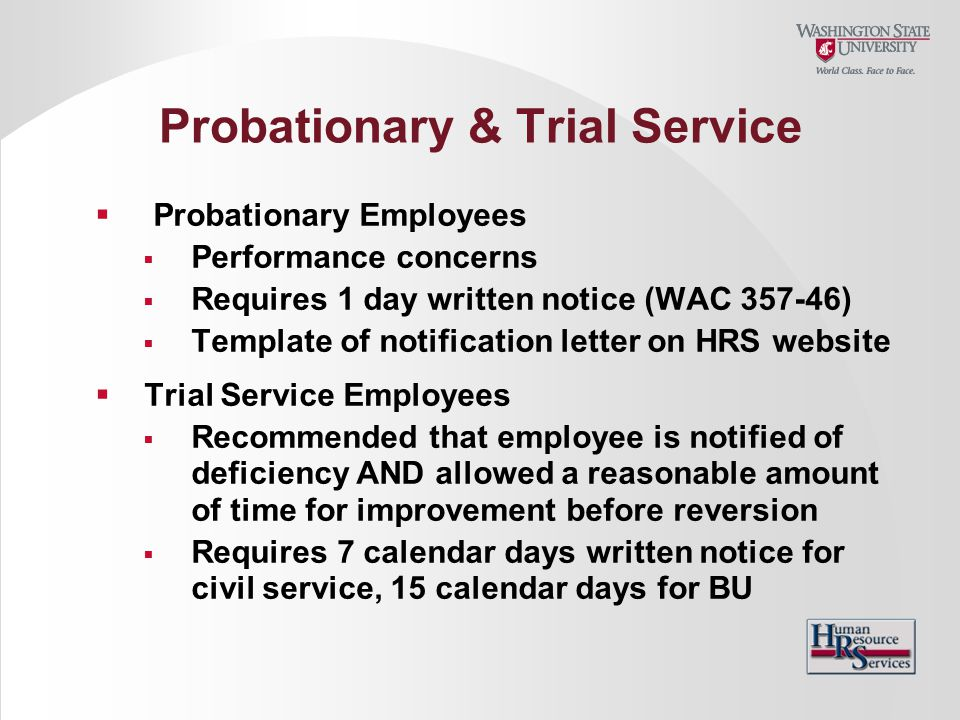 Probationary & Trial Service