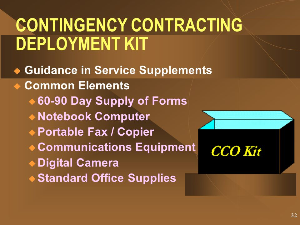 CONTINGENCY CONTRACTING DEPLOYMENT KIT