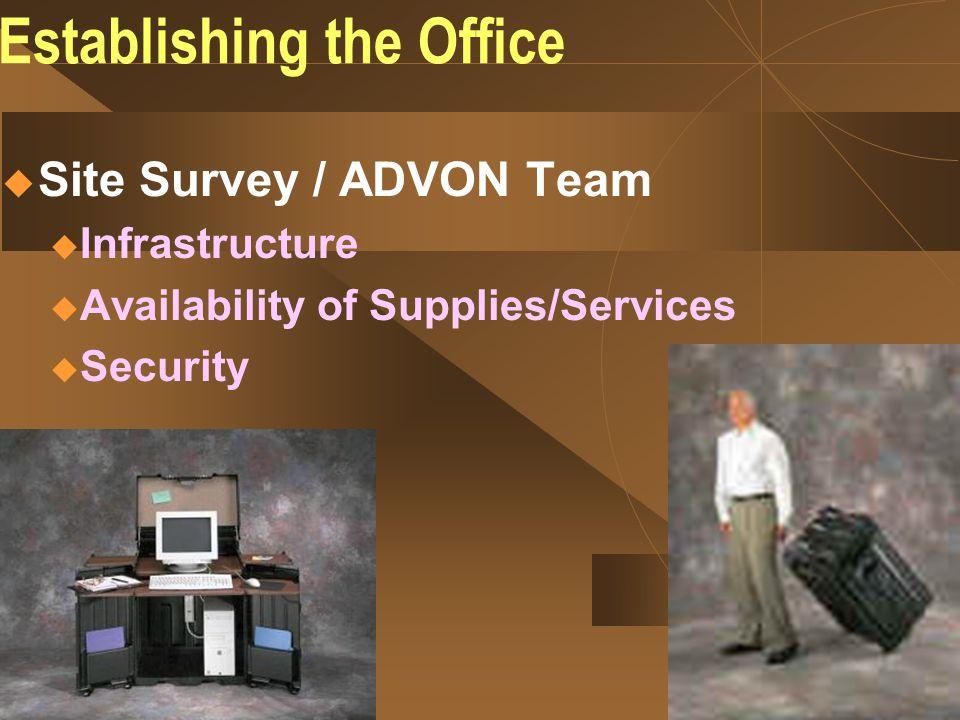 Establishing the Office