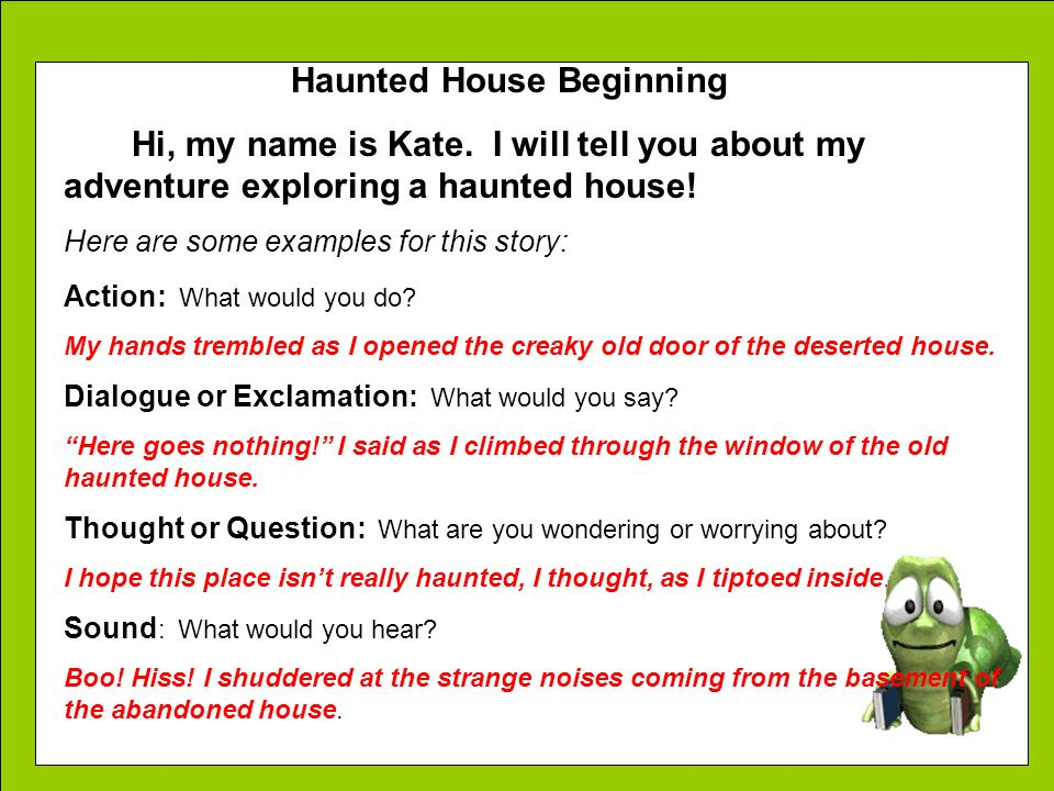 Haunted House Beginning