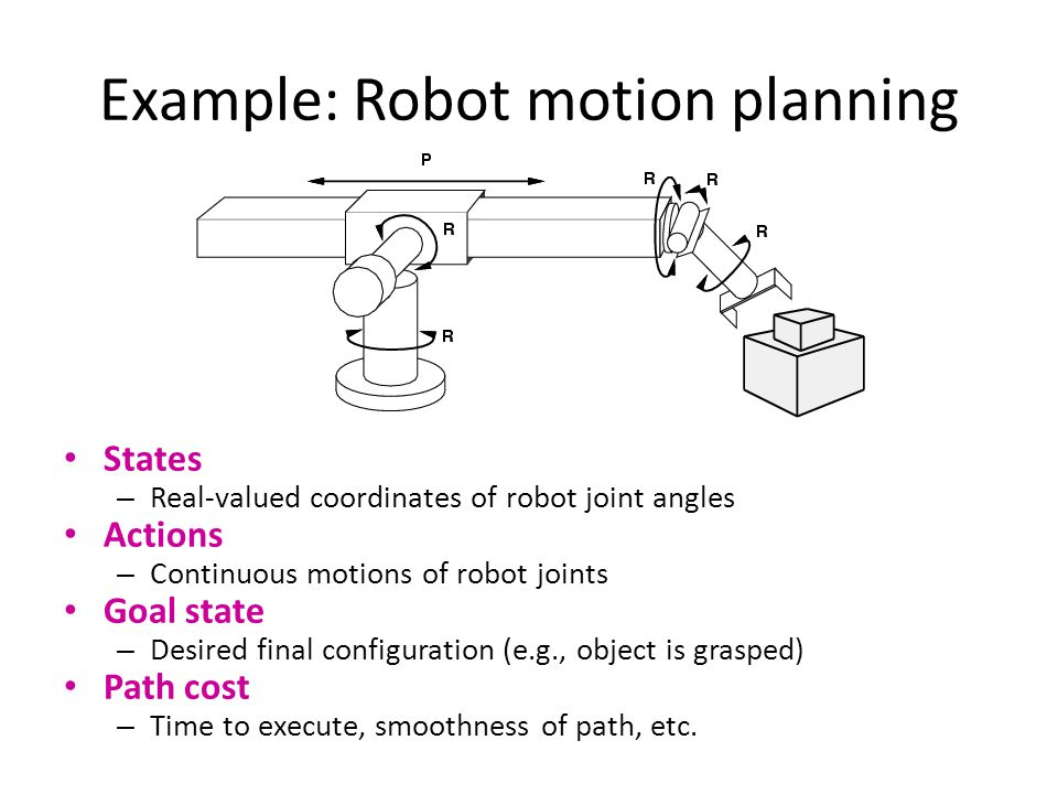 Example: Robot motion planning
