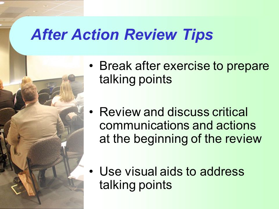 After Action Review Tips