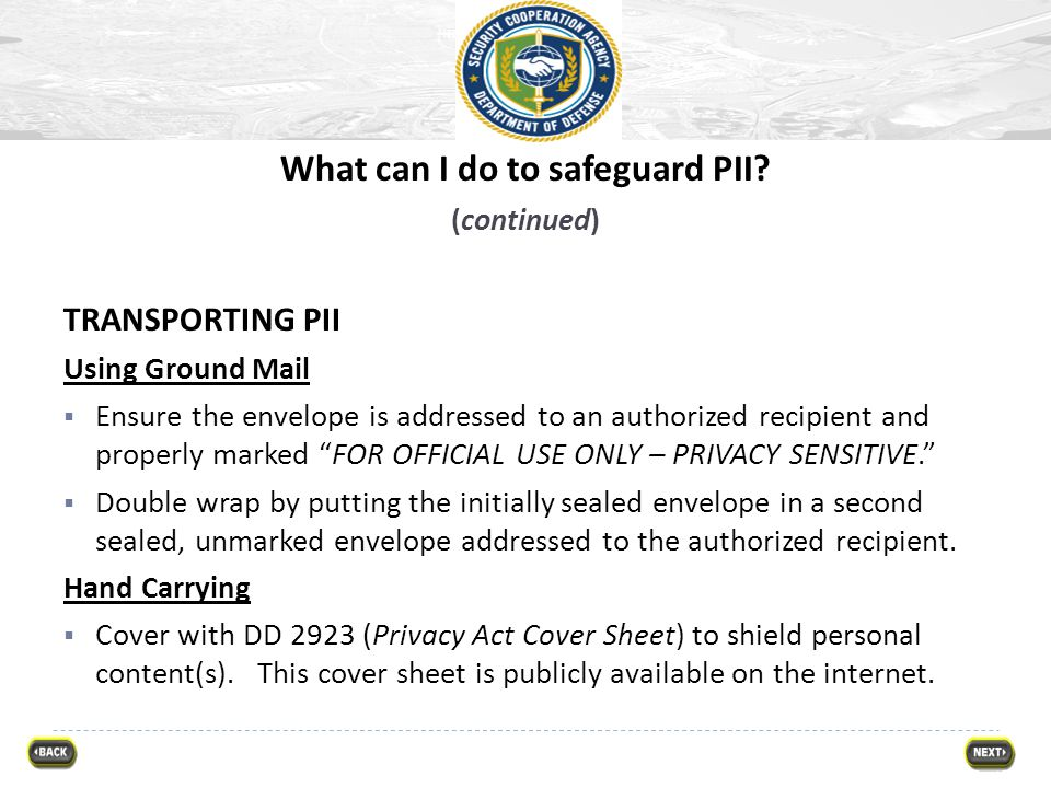 What can I do to safeguard PII