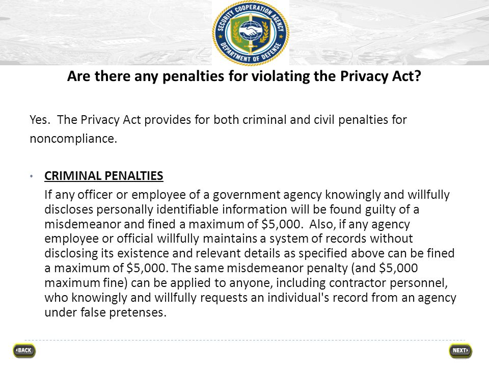 Are there any penalties for violating the Privacy Act