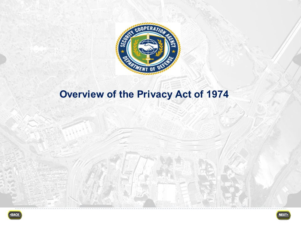 Overview of the Privacy Act of 1974