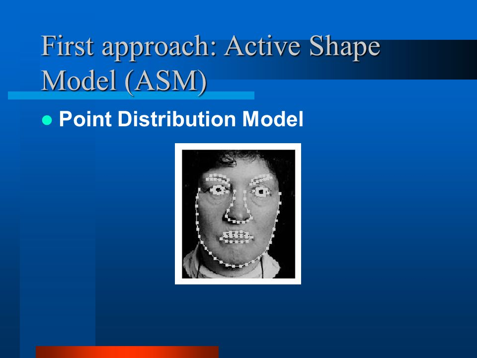 First approach: Active Shape Model (ASM)