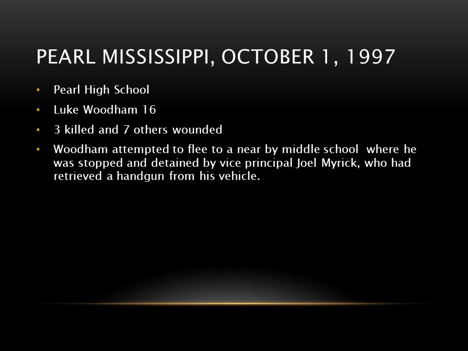 Pearl Mississippi, October 1, 1997