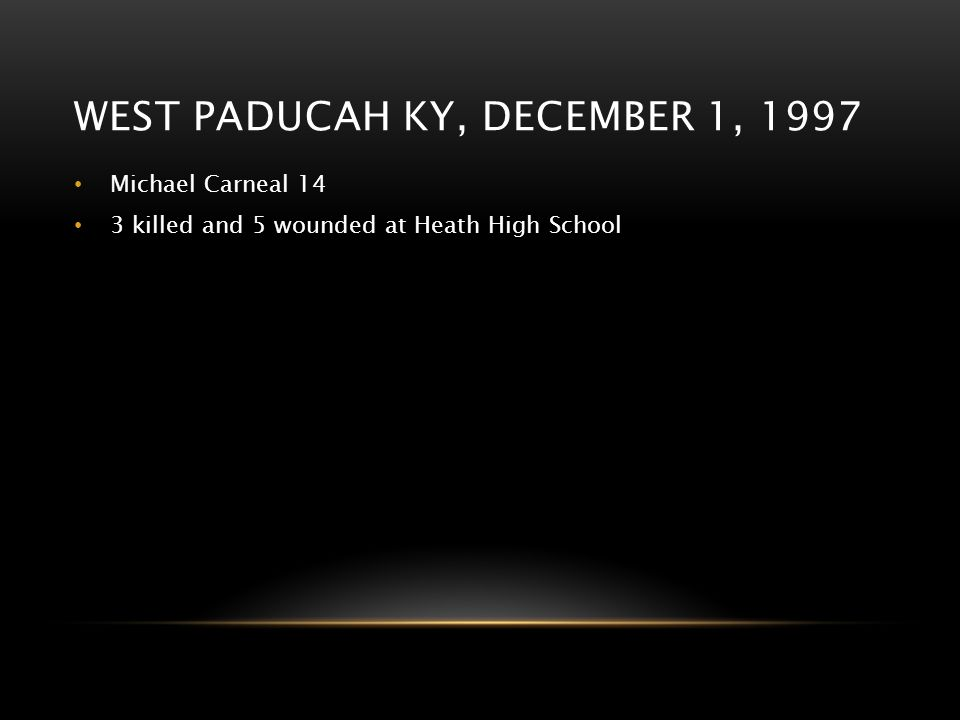 West paducah KY, december 1, 1997