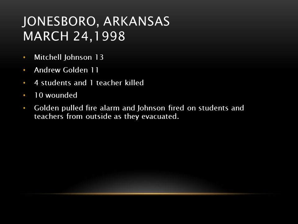 Jonesboro, Arkansas March 24,1998