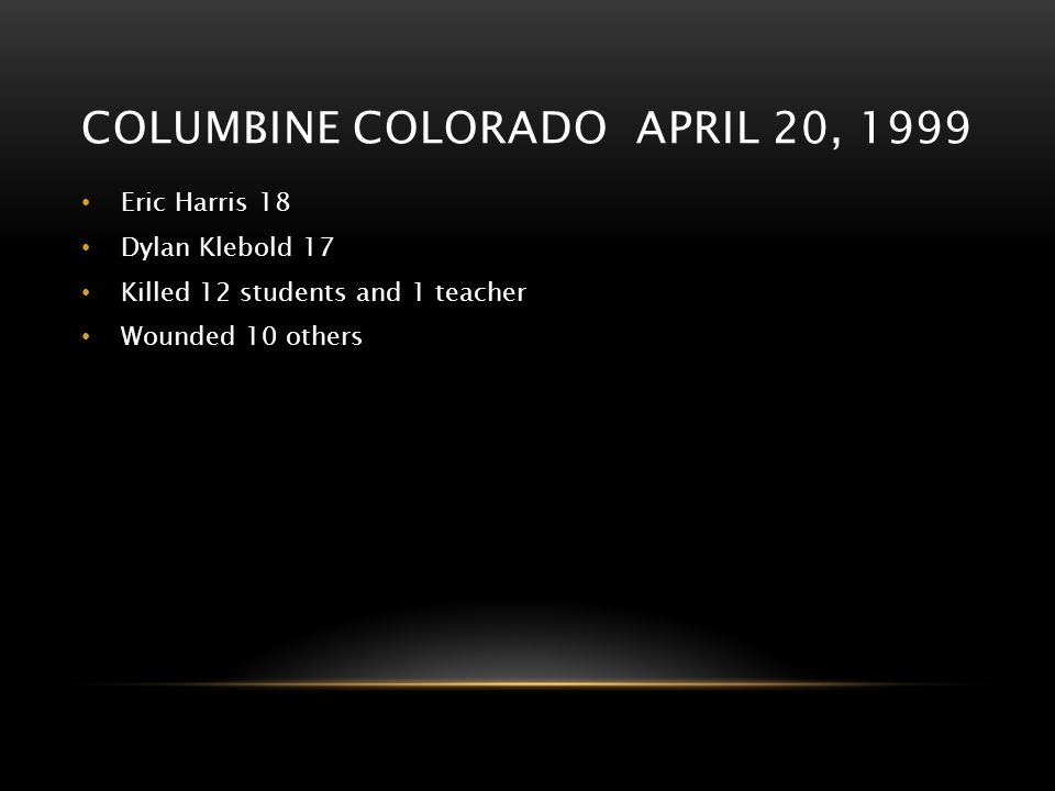 Columbine Colorado april 20, 1999