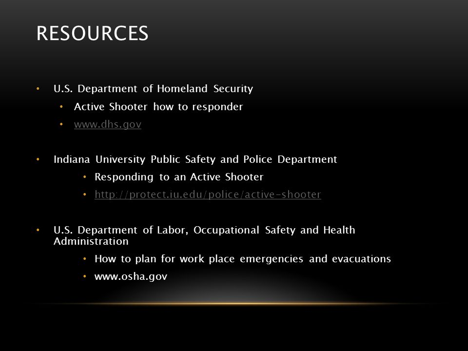 Resources U.S. Department of Homeland Security