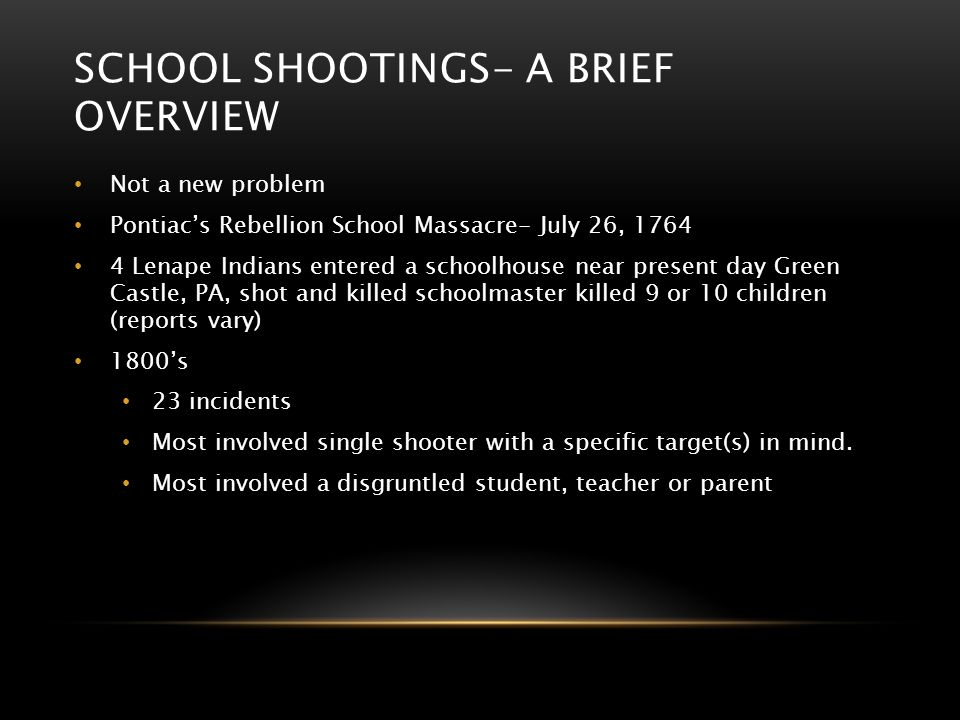 School shootings- A brief overview
