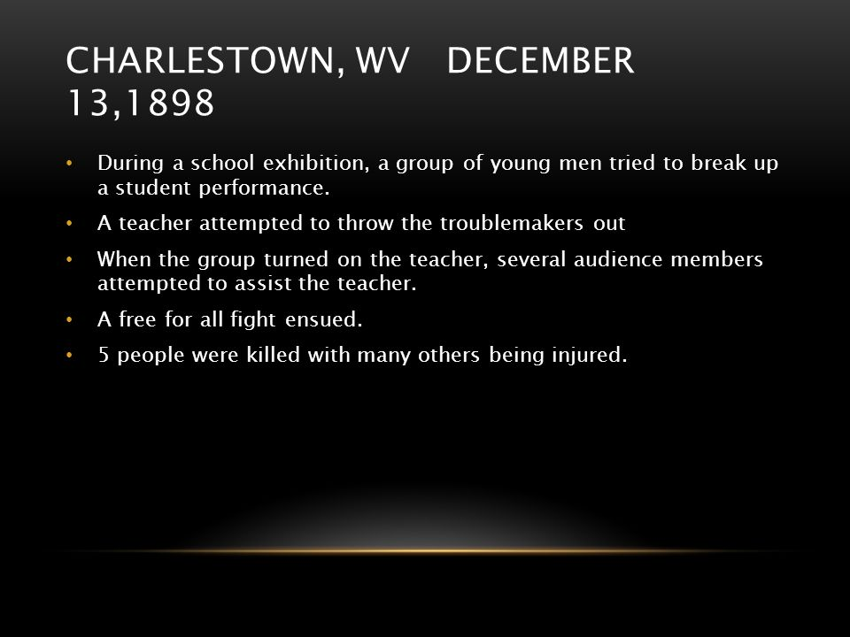 Charlestown, WV December 13,1898