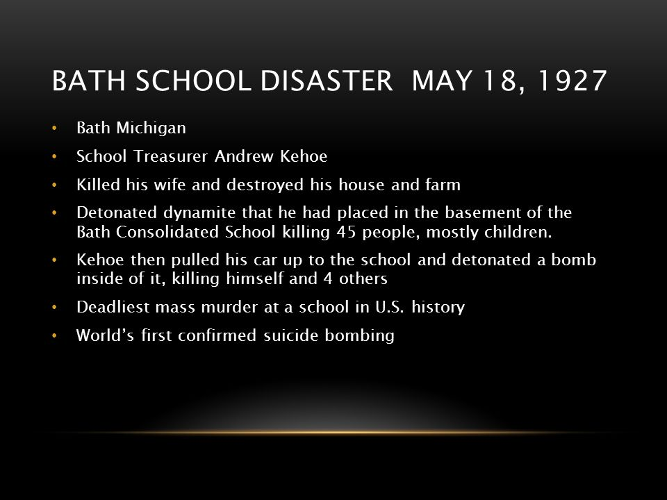 Bath school disaster may 18, 1927