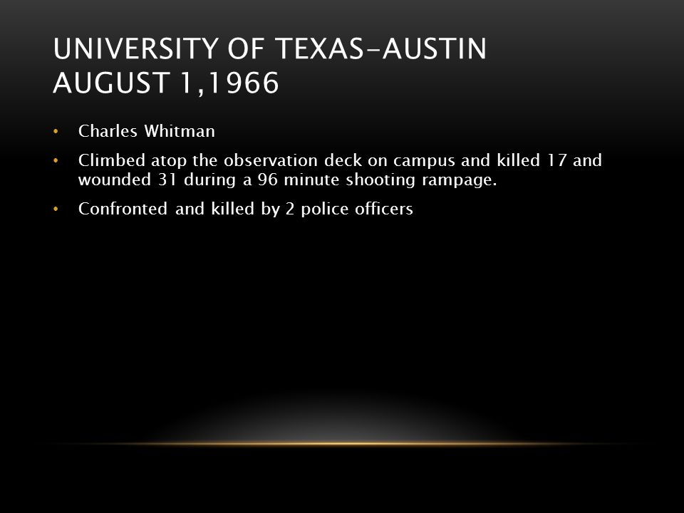 University of texas-austin august 1,1966