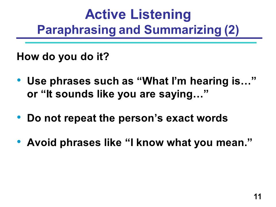 Active Listening Paraphrasing and Summarizing (2)
