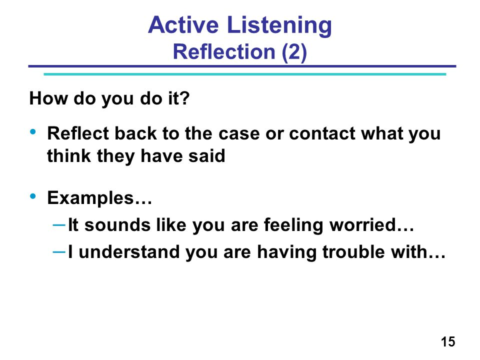 Active Listening Reflection (2)
