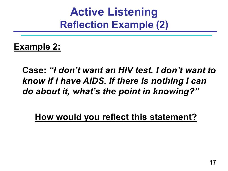 Active Listening Reflection Example (2)