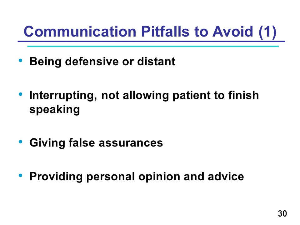 Communication Pitfalls to Avoid (1)