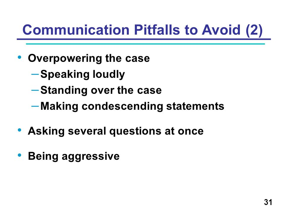 Communication Pitfalls to Avoid (2)