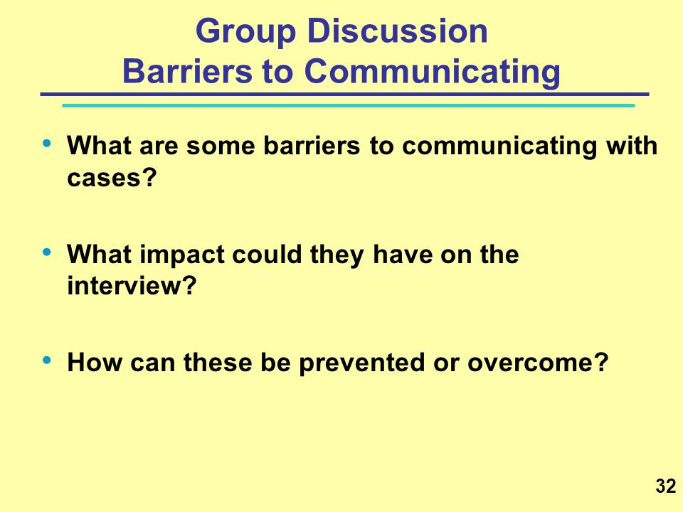 Group Discussion Barriers to Communicating