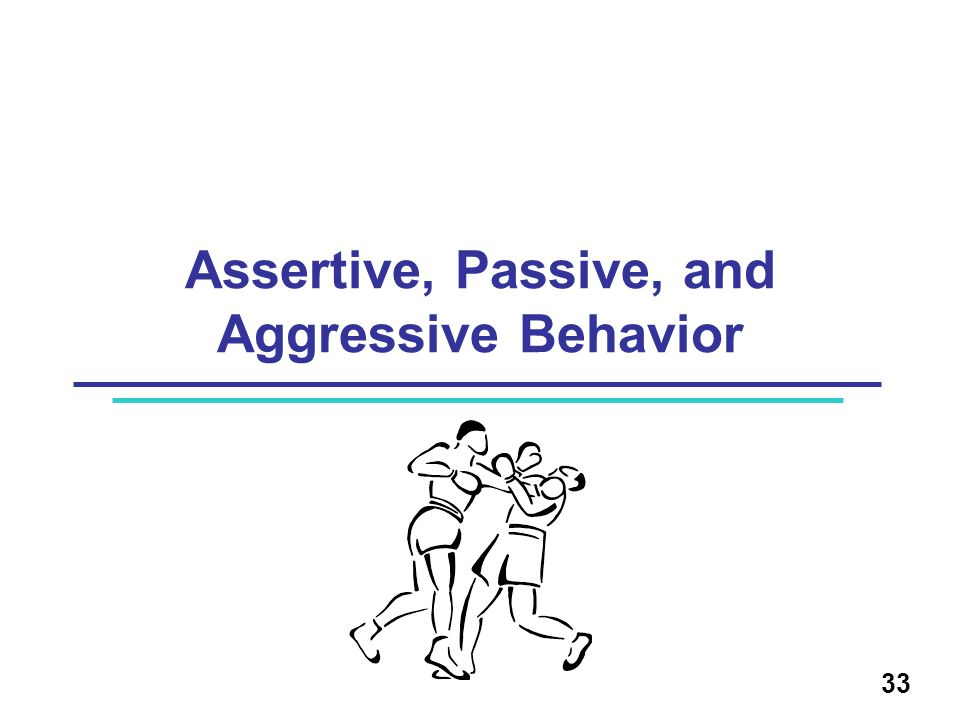Assertive, Passive, and Aggressive Behavior