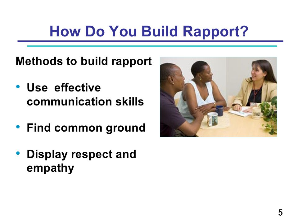 How Do You Build Rapport