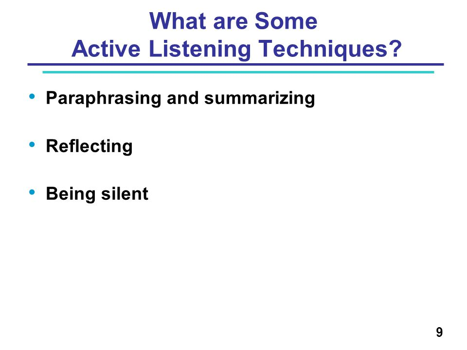 What are Some Active Listening Techniques