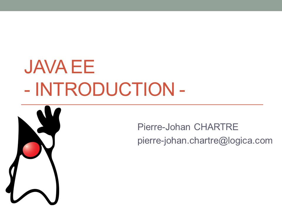 Java EE - Introduction -