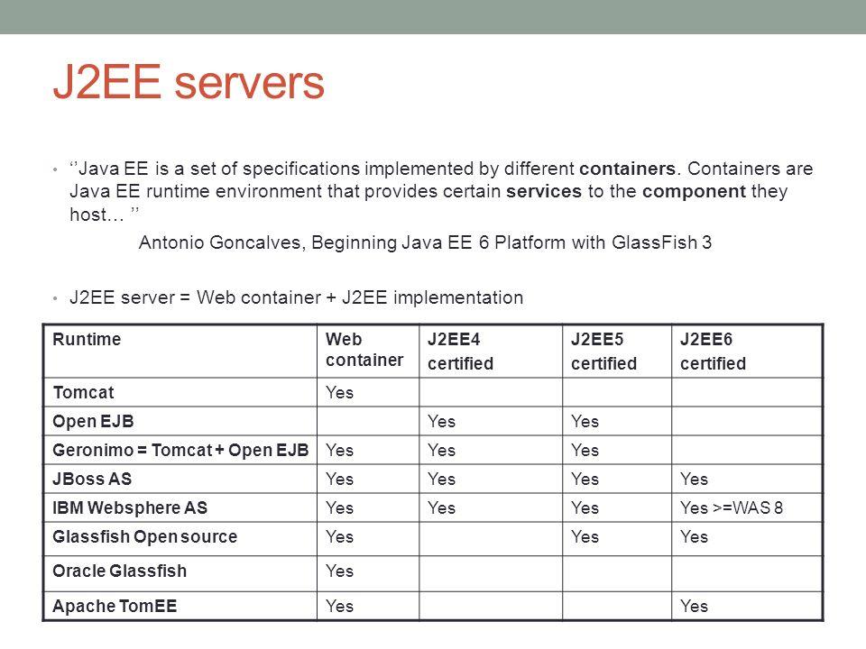 J2EE servers