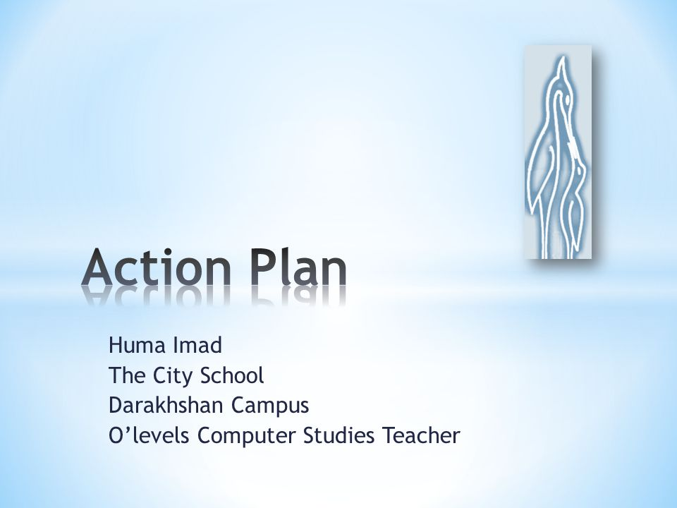 Action Plan Huma Imad The City School Darakhshan Campus