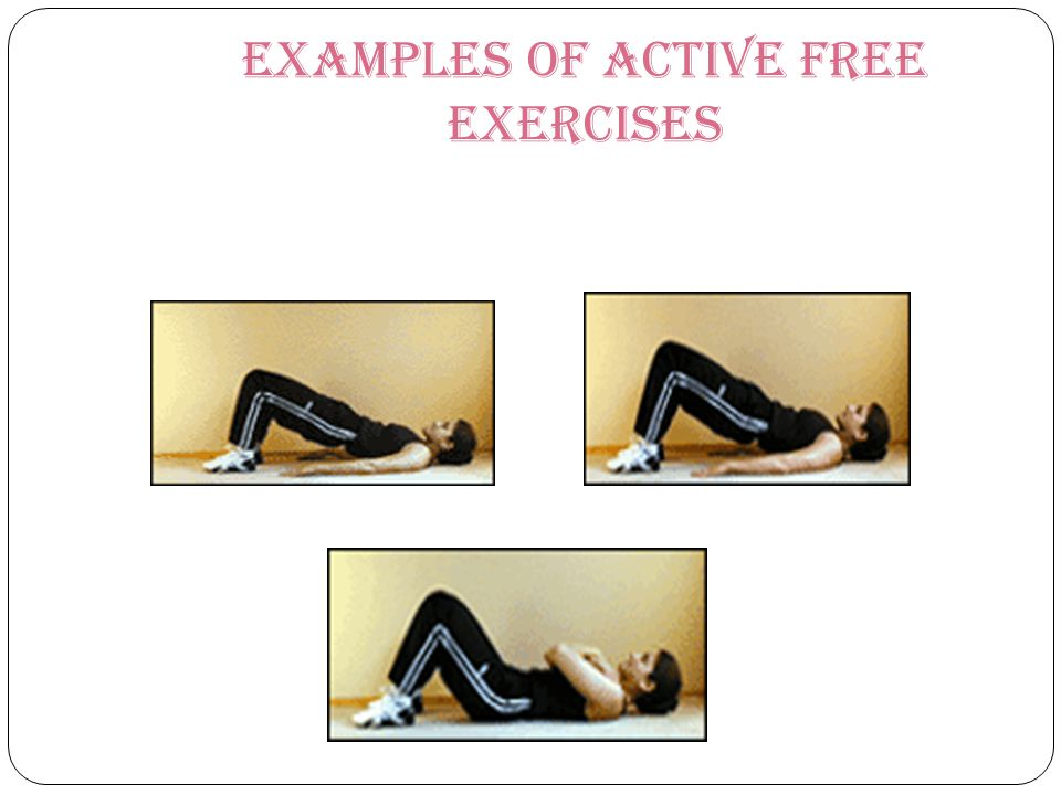 Examples of Active Free Exercises