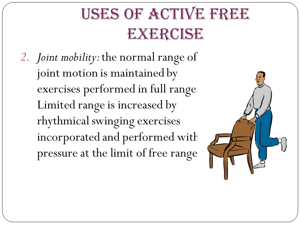Uses of Active Free Exercise