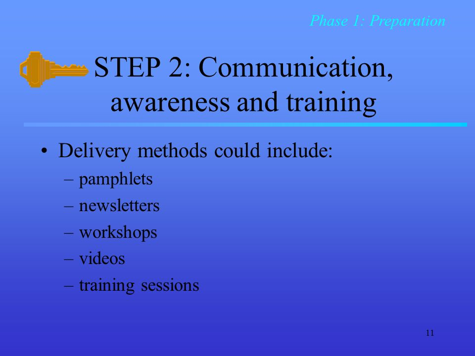 STEP 2: Communication, awareness and training