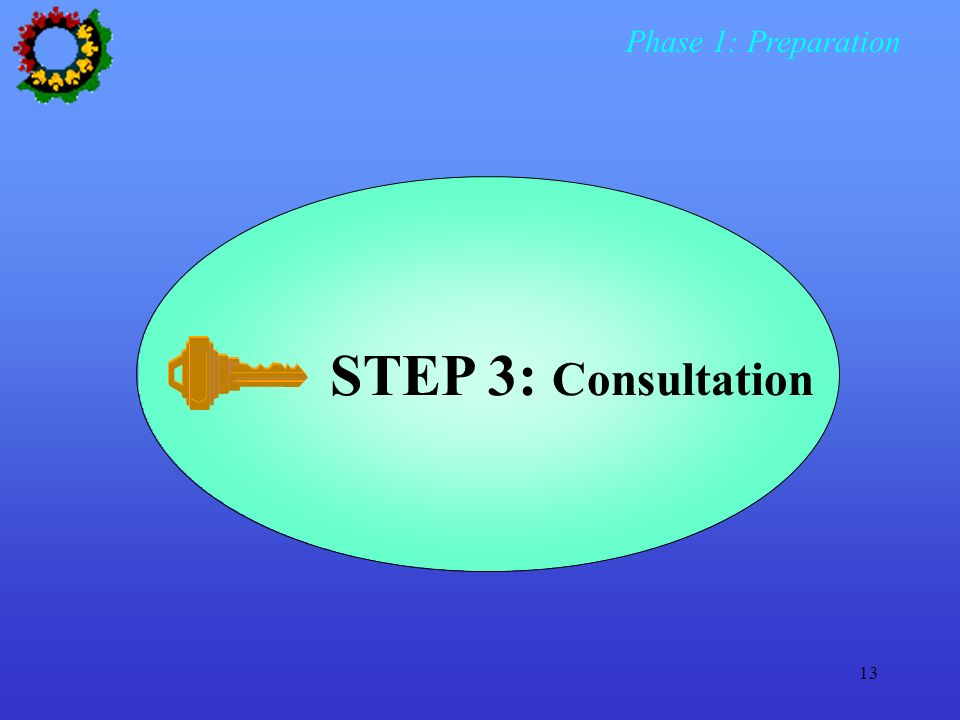 Phase 1: Preparation STEP 3: Consultation