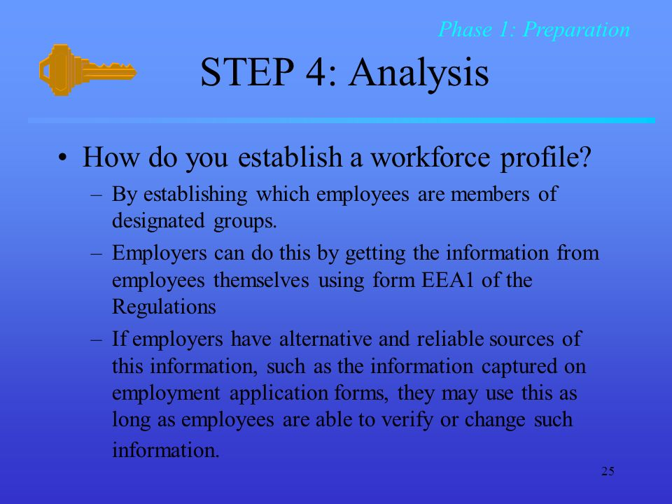 STEP 4: Analysis How do you establish a workforce profile