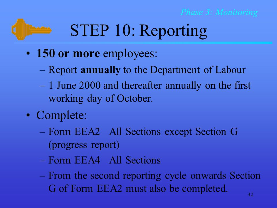STEP 10: Reporting 150 or more employees: Complete: