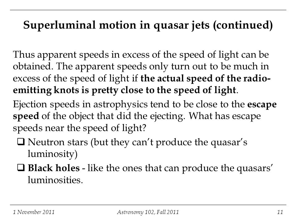 Superluminal motion in quasar jets (continued)