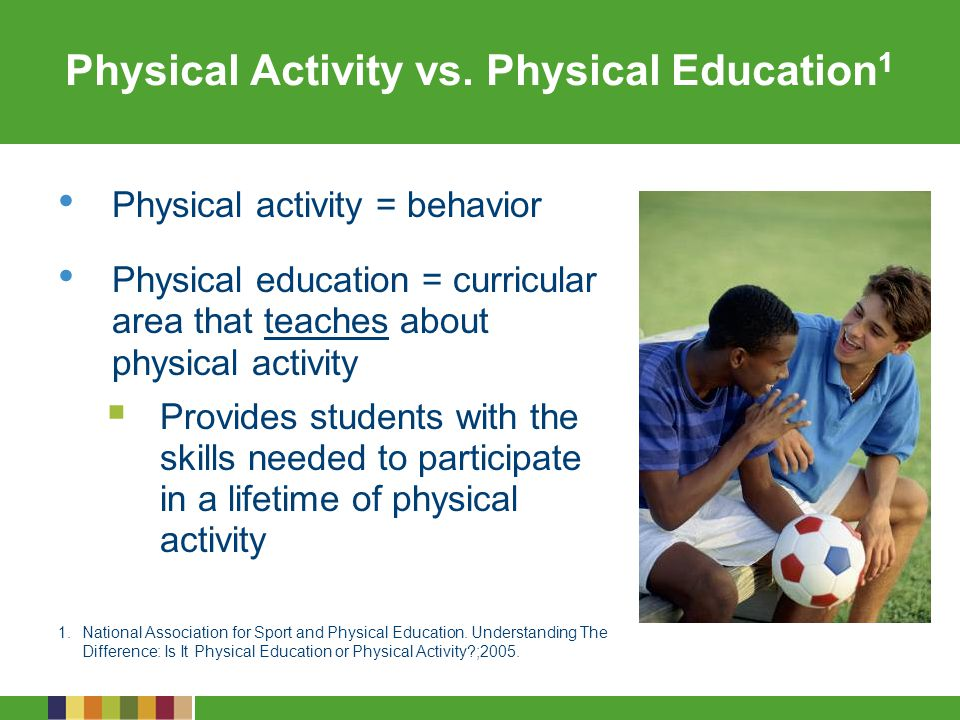 Physical Activity vs. Physical Education1